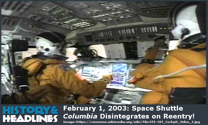Space Shuttle Columbia 2003 - Pics about space
