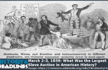 largest slave auction