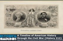 a timeline of American history through the Civil War